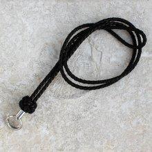 Pfeifenband 4,0mm Celtic dark brown geflochten mit Silberring